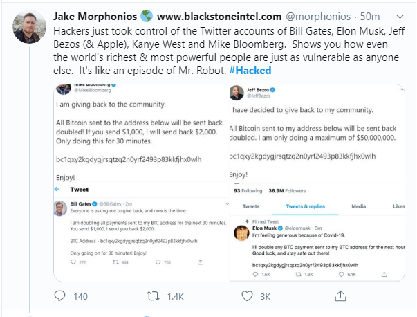 , Major Twitter Hack – Hackers Run Bitcoin Scam Using Celebrity and Verified Accounts